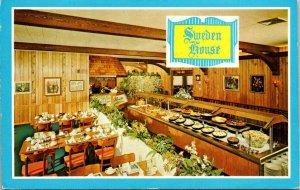Postcard Sweden House Smorgasbord Restaurant Ft Lauderdale Miami Tampa 1640