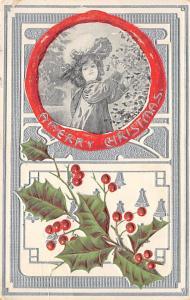 Christmas Post Card Old Xmas Postcard