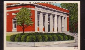 Virginia Postcard US Post Office Lexington