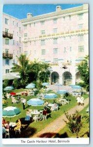 TUCKER'S TOWN, Bermuda ~ Garden Terrace CASTLE HARBOUR HOTEL 1954 Postcard