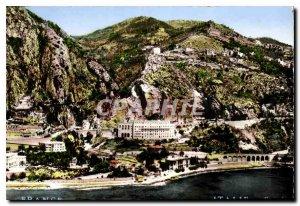 Postcard Modern Riviera Menton Garavan Aerial view of Pont Saint-Louis and th...