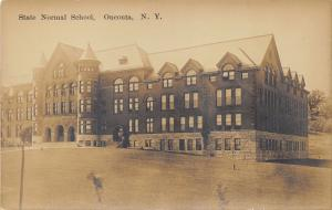 Oneonta New York~State Normal School~Huge Building~c1910 Real Photo Postcard