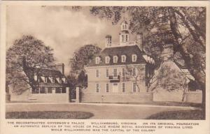 The Reconstructed Governor's Palace Williamsburg Virginia Albertype 1925