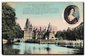 Old Postcard Chateau de Maintenon E and L View taken on Piece of Water