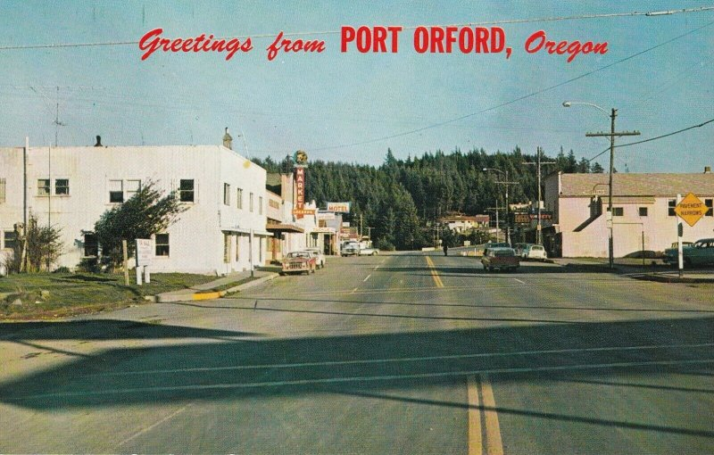 PORT ORFORD , Oregon, 1950-60s ; Main Street