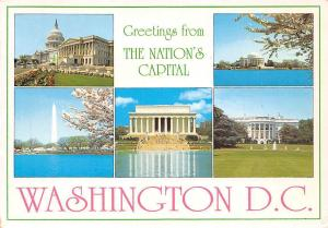 USA Greetings frm the Nation's Capital Washington Jefferson Memorial White House