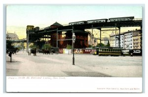 Postcard 110th St Elevated Curve, New York Y65