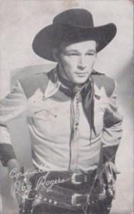 Vintage Cowboy Arcade Card Roy Rogers