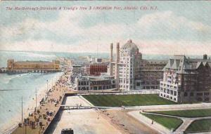 The Marlborough, Blenheim & Young's Pier,  Atlantic City, New Jersey, PU-1909