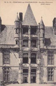 CHATEAU de CHATEAUDUN, Escalier d'honneur, (XVI siecle) Eure et Loir, France,...