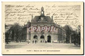 Paris City Hall Old Postcard of 20eme Arrondissement