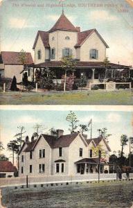Southern Pines North Carolina Highland Lodge Wheeler Antique Postcard K93926