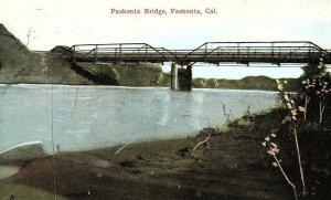 C.1910 Paskenta Bridge, Pakenta, Cal. Vintage Postcard P135