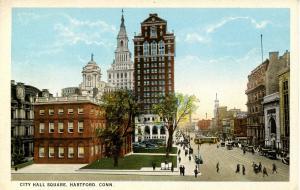 CT - Hartford. Old City Hall Square, Travelers, Hartford Connecticut Trust