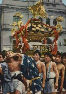 Mikoshi Katsugi Japan Festival postcard