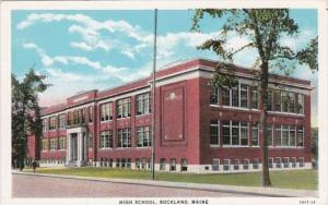 High School Rockland Maine Curteich