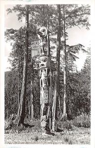 C6/ Ketchikan Alaska AK Real Photo RPPC Postcard c1950s Totem Pole