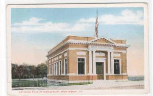 National Bank of Middlebury Vermont 1920s postcard