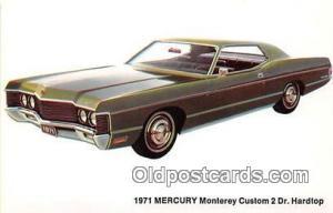 Troy, NY, USA Postcard Post Card 1971 Mercury Monterey Custom 2 Door Hardtop