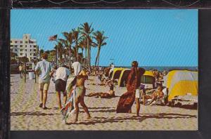 Beach Scene,Fort Lauderdale,FL Postcard