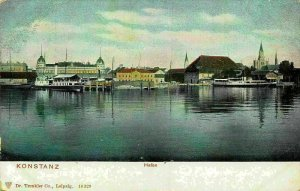 Konstanz Hafen Harbour Boats Postcard