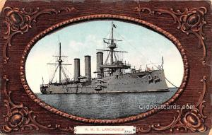 Military Battleship Postcard, Old Vintage Antique Military Ship Post Card HMS...