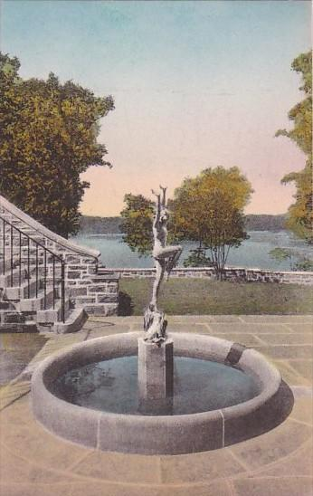 Joy Of The Waters Fountain Valeria Home Oscawana New York Handcolored Albertype