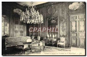 Old Postcard Rambouillet Chateau's study of the president of the republic