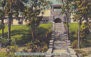 Approach To Recreation Center, Abilene State Park, Abilene, Texas, 1930-1940s