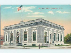 Unused Divided-Back POST OFFICE SCENE Rochester New Hampshire NH d8822