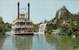 The Marl Twain Steamboat Passes Cascade Park And Its Beautiful Waterfalls Dis...