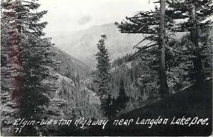 RPPC View Elgin - Weston Highway Near Langdon Lake OR Oregon
