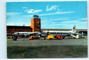 Munich Germany Airport Lufthansa Airlines Vintage 4x6 Postcard E01