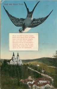 Vintage Postcard Grus Aus Mariatrost Graz Austria