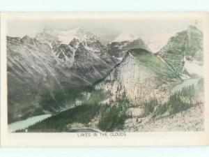 old rppc NICE VIEW Moraine Lake - Banff National Park Alberta AB W0870