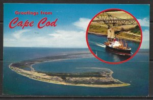 Massachusetts, Cape Cod - Greetings From - Aerial View Of Tip - [MA-013]