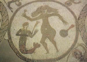 Venus Goddess With Sea Cupid God Of Love Mythology Yorkshire Mural Postcard