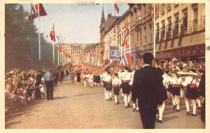 Norway Old Vintage Antique Post Card Karl Johan Oslo 1953