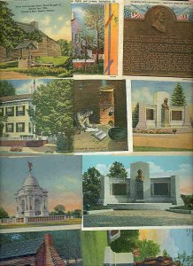 pc8096 postcard Abraham Lincoln Related TEN Lot #4 of 4