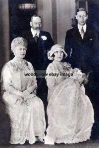 mm905 - King George V , Mary , George , Elizabeth - photograph 6x4