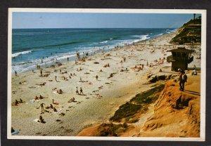 CA Moonlight State Beach Encinitas San Diego County California Postcard