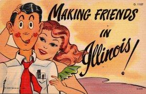 Illinois Romantic Couple Making Friends In Illinois Curteich