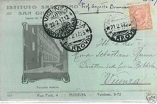 00210  CARTOLINA d'Epoca: MODENA Citta' - ISTITUTO SALESIANO