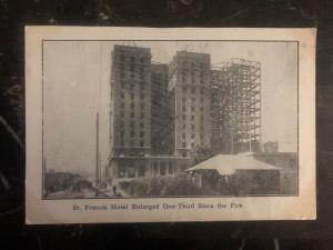 Mint USA RPPC Postcard St Francis Hotel Enlarged One Third After The Fire
