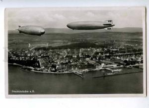 191640 GERMANY FRIEDRICHSHAFEN dirigible Vintage air post RPPC