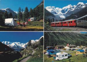 PONTRESINA, Switzerland, PU-1983; Camping Plauns