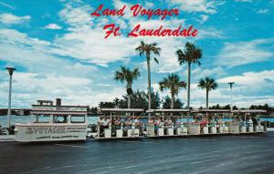 Miniature Train / Tram The LAND VOYAGER  , Fort Lauderdale , Florida , 40-60s