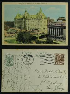 Chateau laurier Hotel pmk 1931