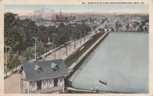 ERIE , Pennsylvania , PU-1918; Bird's Eye View from Reservoir