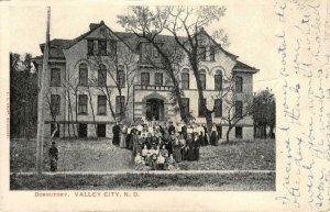 Dormitory, Valley City, North Dakota Group of Students 1907 Vintage Postcard